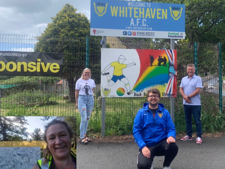 Whitehaven AFC Supports VE 75th Celebration Year and releases new kit supporting Key Workers