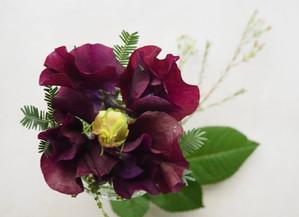 残りの花材でもう一品。50