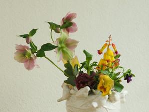 小鳥と花たち