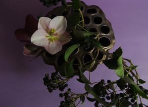 残りの花材でもう一品。3