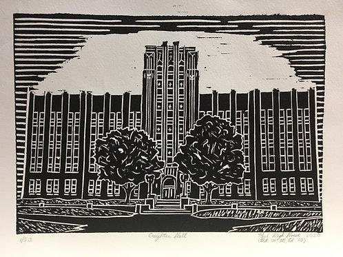 Creighton Hall block print