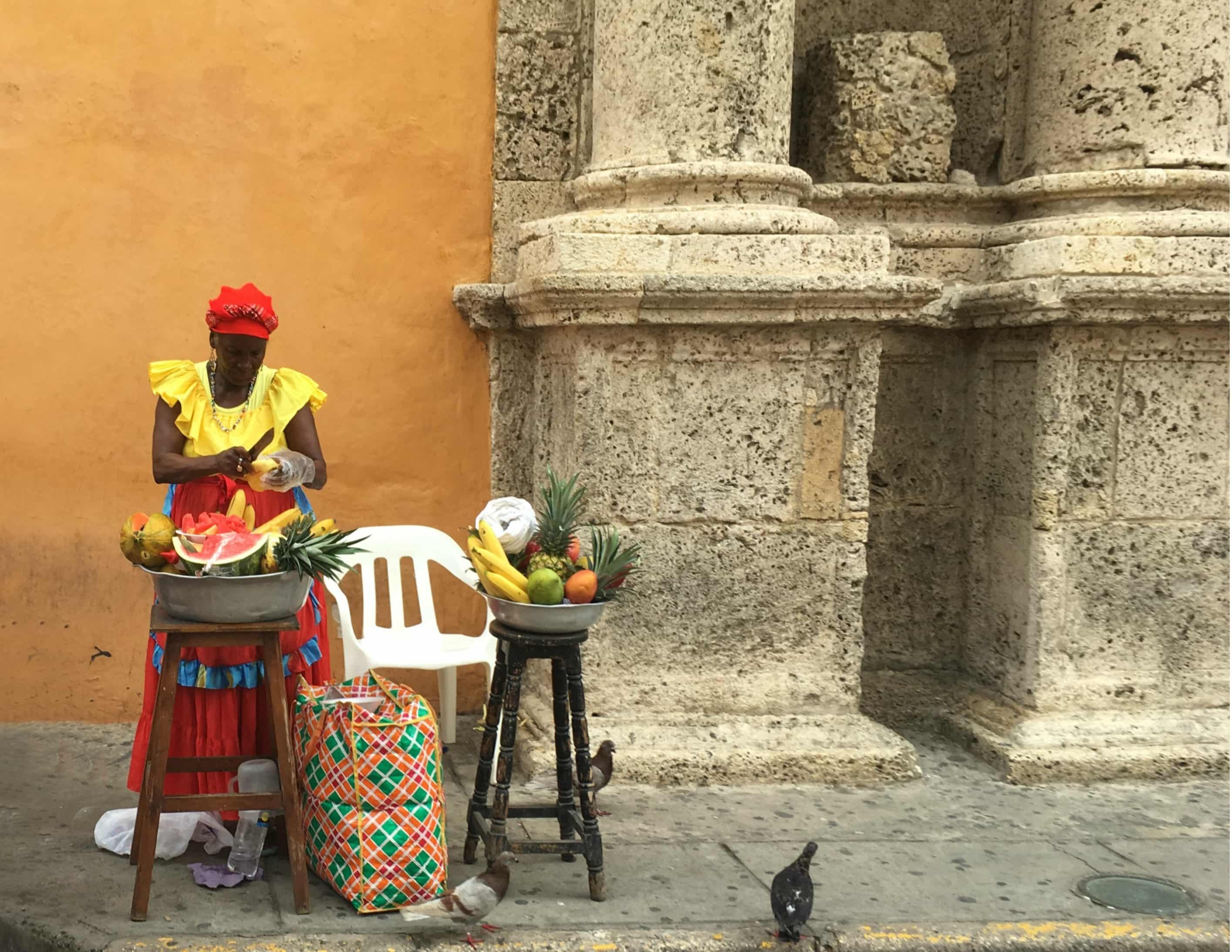 cartagena-verkoopster-oude-centrum