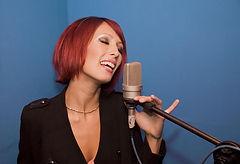 Maria in the studio