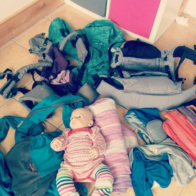 Choosing which slings to show for tomorrow's newborn sling Consultation