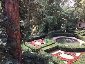 Jardin à la française du Château de La Barben