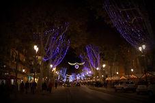 Cours Mirabeau Noël Aix-en-Provence