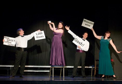 Scenes from our production of 'Eat, Drink, Love!'