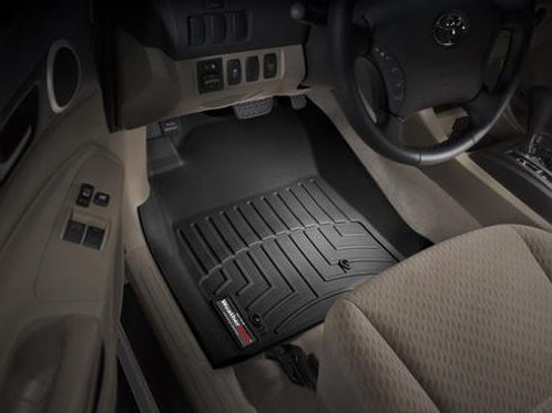 Tacoma Double Cab Weathertech Rear Mats in Black for  2005-2015