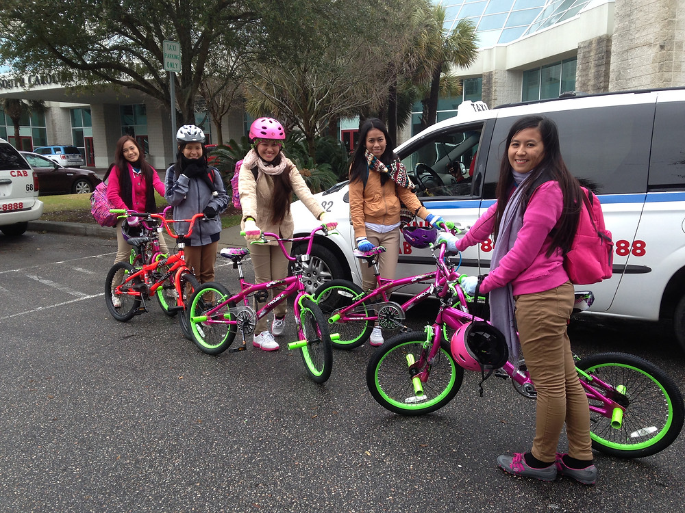 Most J-1 students buy and ride bikes during their 3-month program.