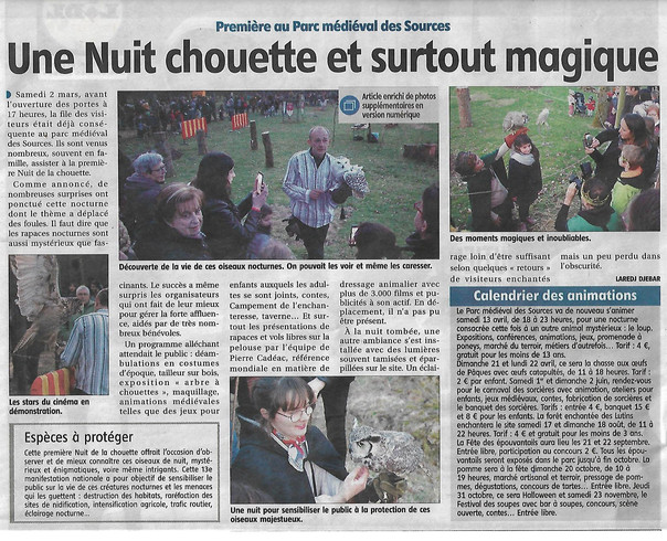 ARTICLE ECLAIREUR CHOUETTE