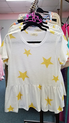 Baby doll star top.  SML