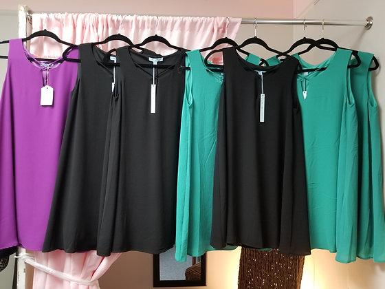 Lined sleeveless dress  S,M,L