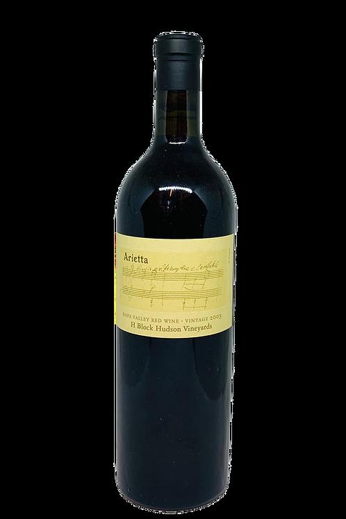 Arietta Hudson H-Block Red Wine 2003