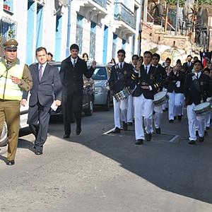 Desfile a Carabineros