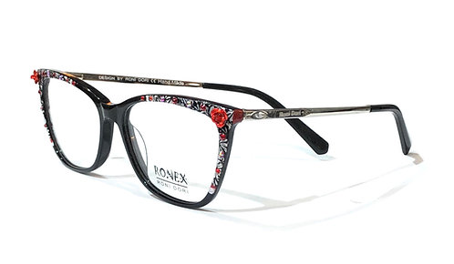 7196 - Black with Red Flower