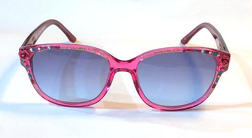 1405 - Pink Flowers Sunglasses