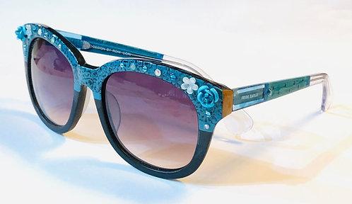 9031 - Turquoise Flowers Sunglasses