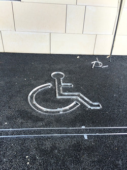 disabled sign trimming