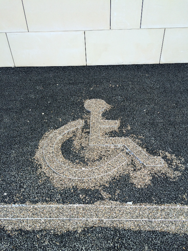 Disabled logo infill