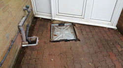 Recessed Manhole in place