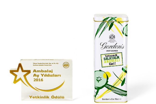 Gordon's Crisp Cucumber Gin Tin And Teksan's 2016 Turkish Packaging Competition Competence Award