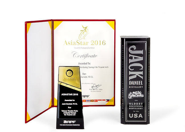 Jack Daniel's Tin And Teksan's 2016 AsiaStar Packaging Award