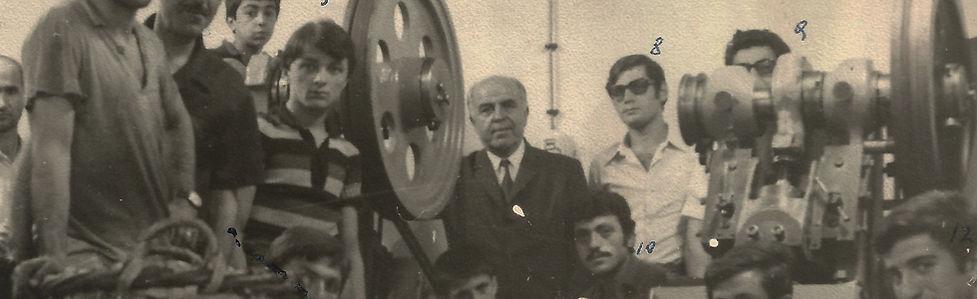 Teksan's old staff with founder Adem Aktas on production floor