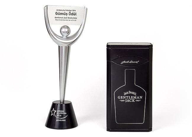 Jack Daniel's Gentleman Jack Tin And Teksan's 2016 Turkish Packaging Competition Silver Award
