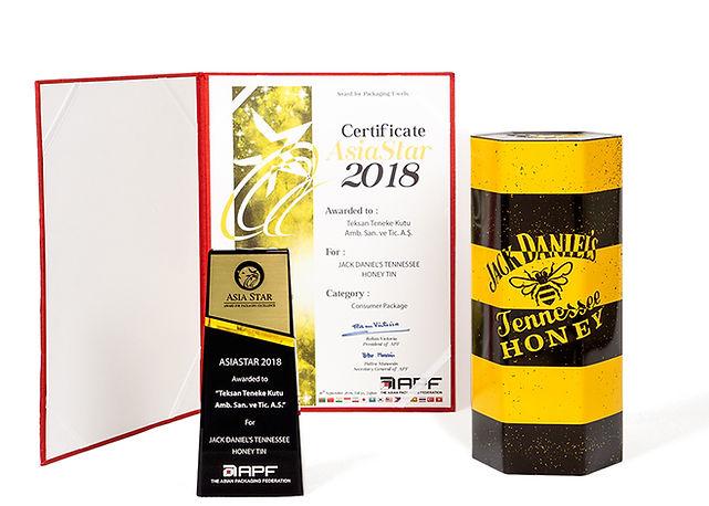 Jack Daniel's Tennessee Honey Viski Kutusu AsiaStar Ödülü