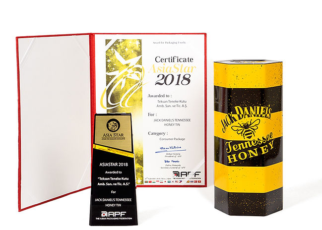 Jack Daniel's Tennessee Honey Tin And Teksan's 2018 AsiaStar Packaging Award