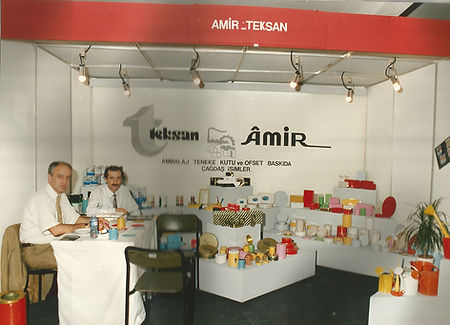 Ilhan Aktas and Ilker Aktas representing Teksan Tin House and Amir Can Industry at the Istanbul Tuyap Fair
