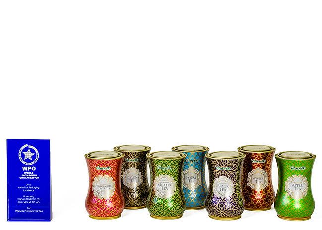 Vitanella Premium Tea Tins And Teksan's 2019 World Packaging Organization Award