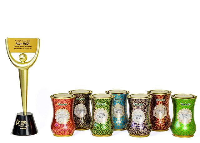 Vitanella Premium Çay Kutuları Ambalaj Ay Yıldızları Altın Ödülü