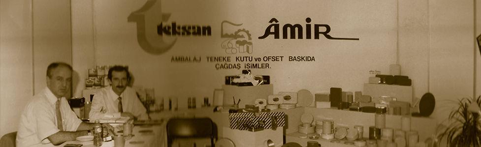 Teksan Tin House and Amir Tin companies exhibiting at a trade show