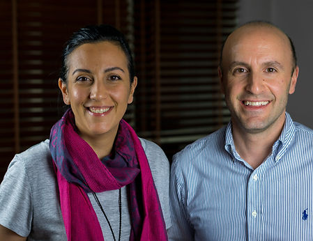 Teksan Tin House's brother and sister team, Zeynep and Gokhan, in the office