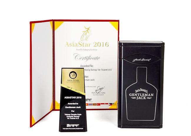 Jack Daniel's Gentleman Jack Tin And Teksan's 2016 AsiaStar Packaging Award