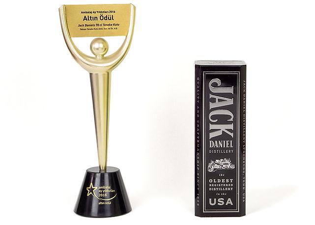 Jack Daniel's Promosyon Kutusu Ambalaj Ay Yıldızları Altın Ödül