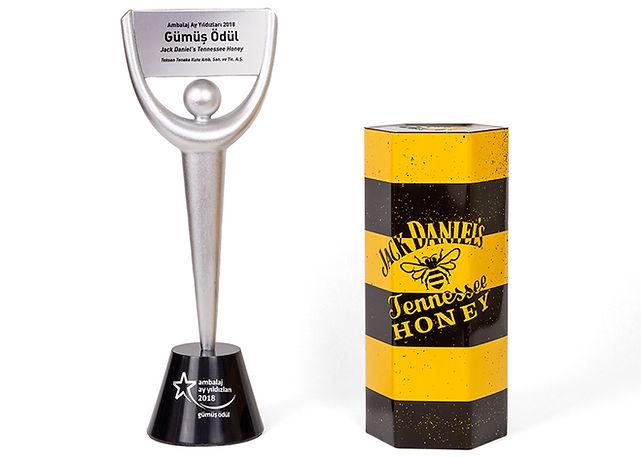 Jack Daniel's Tennessee Honey Viski Kutusu Ambalaj Ay Yıldızları Gümüş Ödülü
