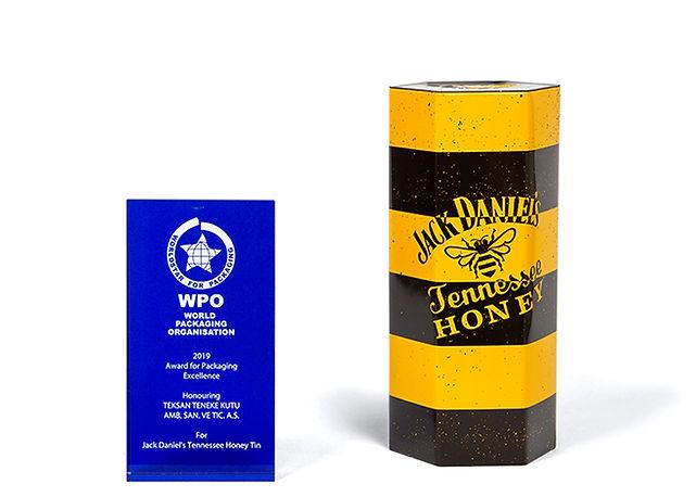 Jack Daniel's Tennessee Honey Viski Kutusu Dünya Ambalaj Örgütü Ödülü