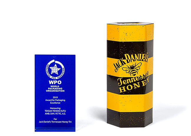 Jack Daniel's Tennessee Honey Tin And Teksan's 2019 World Packaging Organization Award