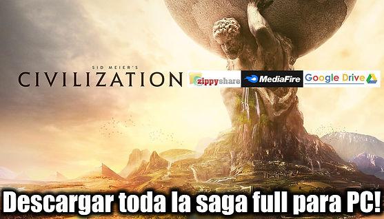 Como descargar Sid Meier's - Civilization todos los juegos full para PC google drive mediafire megaup portada