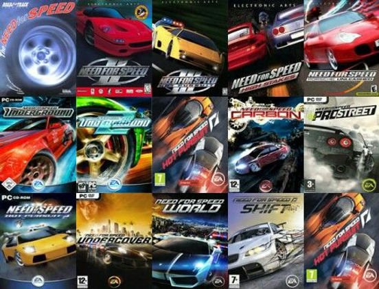 Descargar Need for Speed Todos los juegos- Saga completa Full para PC en español mediafire portada