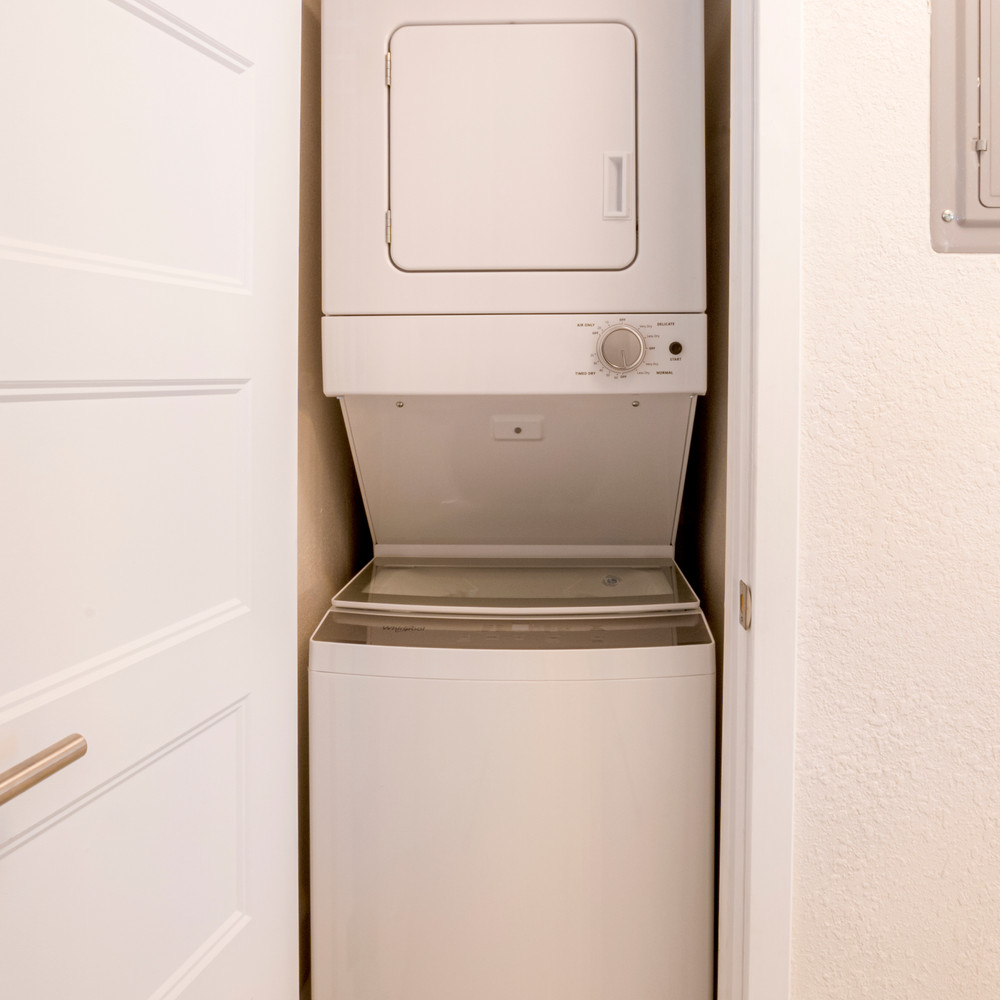 A Cute Washer and Dryer is included