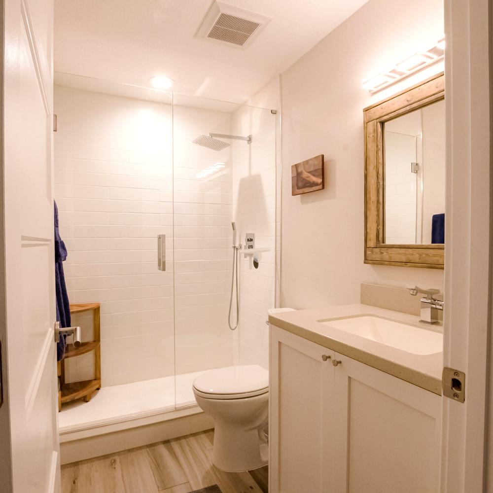 The Guest Bath has a Rainfall Shower