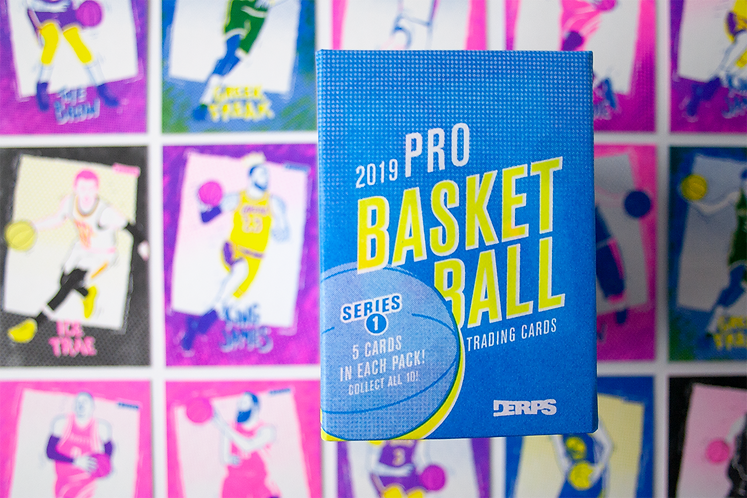 """""""Derps"""" Risograph, Basketball  Trading Cards"""
