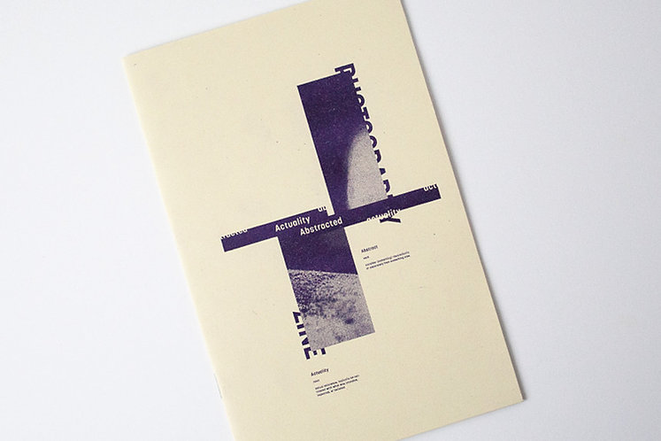 """Actuality Abstracted"" Risograph, Saddle Stitched Zine"
