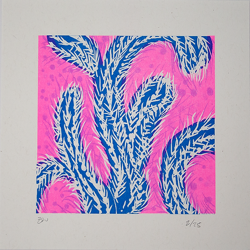 Cactus Risograph Print