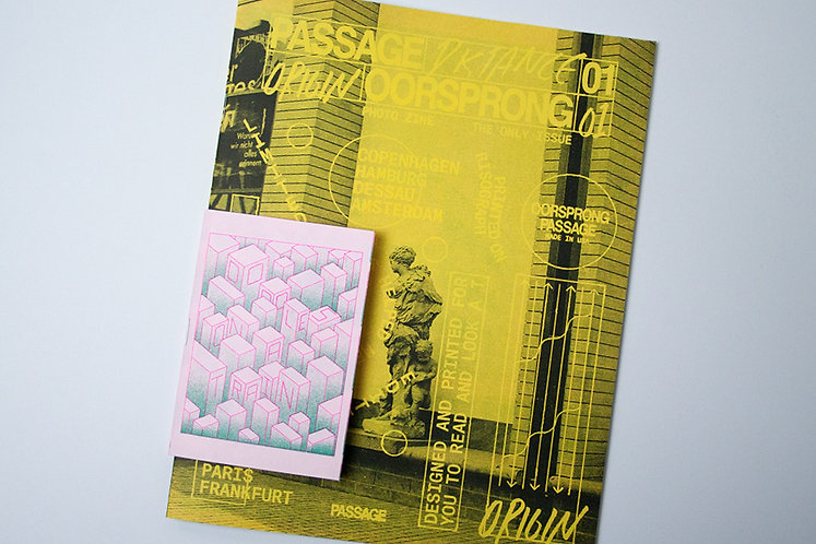 """Passage"" Risograph, Saddle Stitched Booklet"