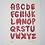 Thumbnail: Sausage Alphabet Risograph Print