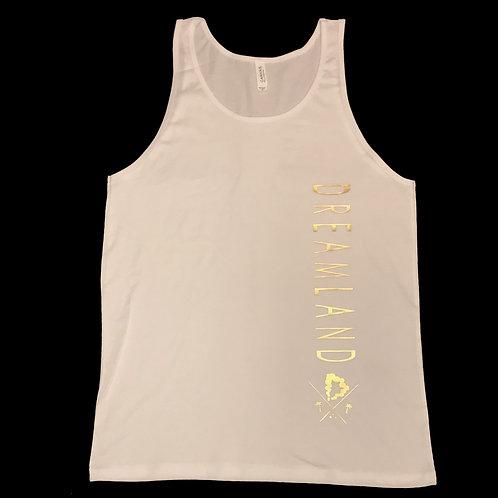"""Midas Tank"" in White & Gold"